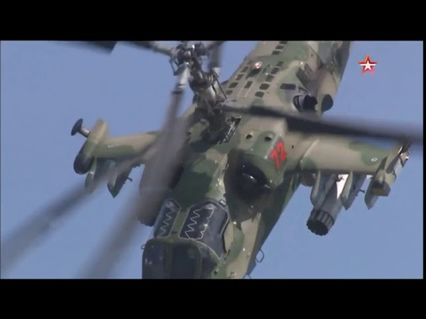 Russian Ka-52 demonstration at Aviadarts 2018