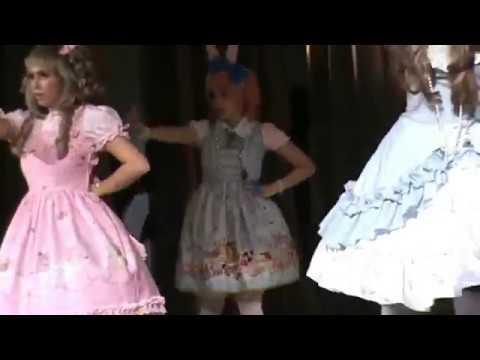 Girlish pink dance