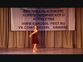 Анастасия Мазуренко с постановкой «Там нет меня» в муз. сопровождении Севара