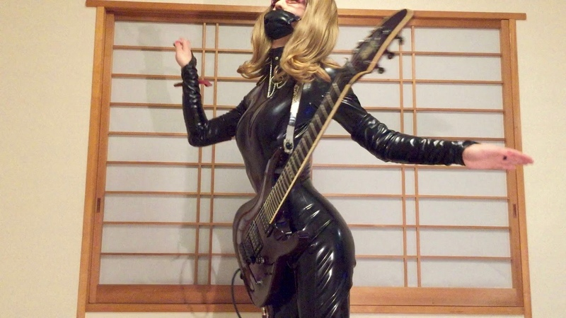 X Japan - DAHLIA (Guitar cover with Latex Catsuit)