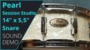 Pearl Session Studio Select 14x5 5 Snare Sound Demo no talking