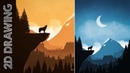 How to EASILY Draw 2D Landscapes in Photoshop