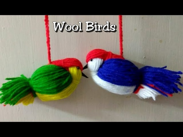 DIY Room Decor idea/Love birds/Easy Woolen Bird craft/ Wall Hanging Idea
