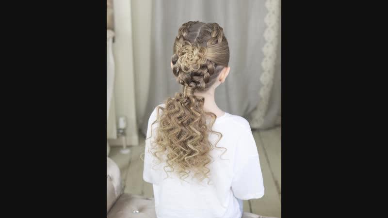Замечательная идея причёски для дочурки