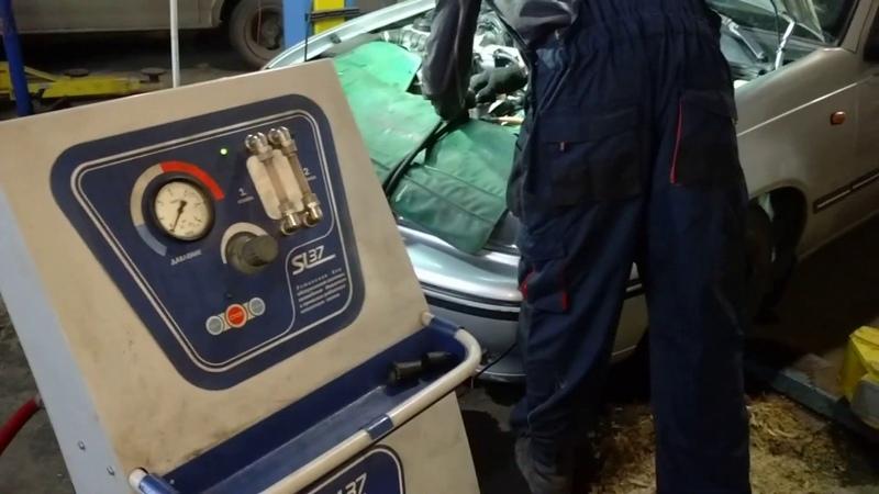 Промывка печки без снятия Челябинск. Автосервис Аргон на Механической 24к8