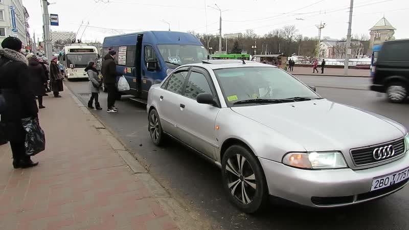 «Паркуны» на остановках общественного транспорта. репортаж «Витебского курьера»