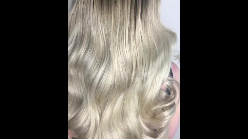 Наращивание волос 100 прядей