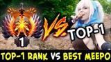 TOP-1 Rank vs BEST Meepo on Dotabuff Paparazi vs inK-