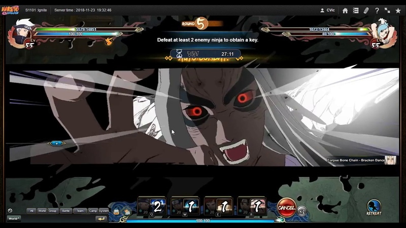 Naruto ナルト Online NS D11 2nd Server Training Ground Second Hell Previous Day Results
