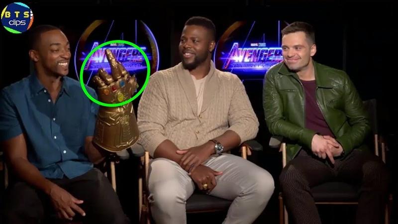 Avengers Infinity War Cast With Infinity Gauntlet