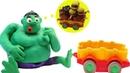CLAY MOTION - HULK EATS UP A FAST FOOD TRUCK - PLAYDOH CARTOON FOR KIDS