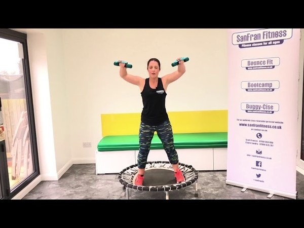 Bounce Fit workout with Weights Rebounding