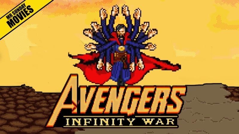 Mr Sunday Movies- Avengers VS Thanos 16 Bit Scenes