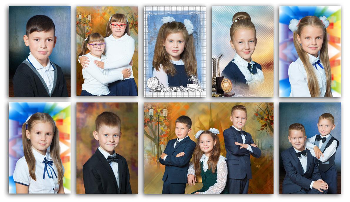 Фотосессия во2-х классах гимназии №343Невского района Санкт-Петербурга . Портретная исюжетная фотосъёмка
