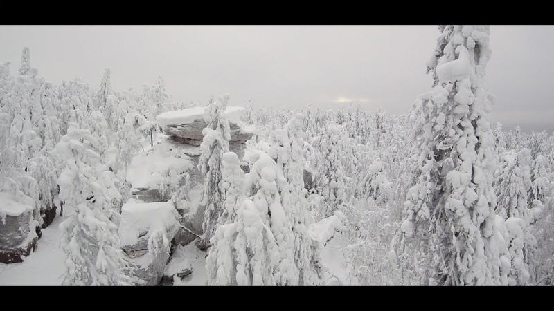 Каменный город зимой 4к. Видеограф Корниенко А. Студия Волшебный сон