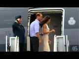 Prince William and Kate Middleton depart from Quebec City