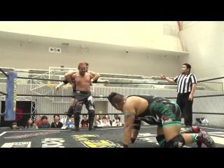 HARASHIMA, Jun Kasai vs. Ryan Davidson, Shigehiro Irie (DDT - Road to Ryogoku 2018 ~ Dramatic Dream Tor no Shiun)