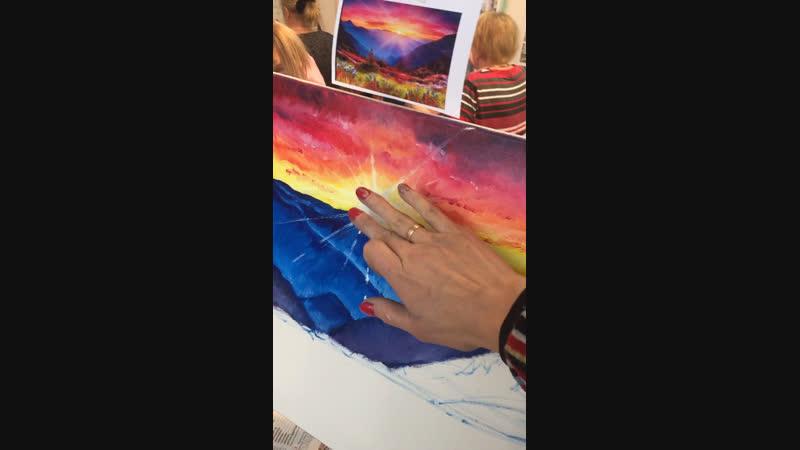 Масляная живопись на свободную тему