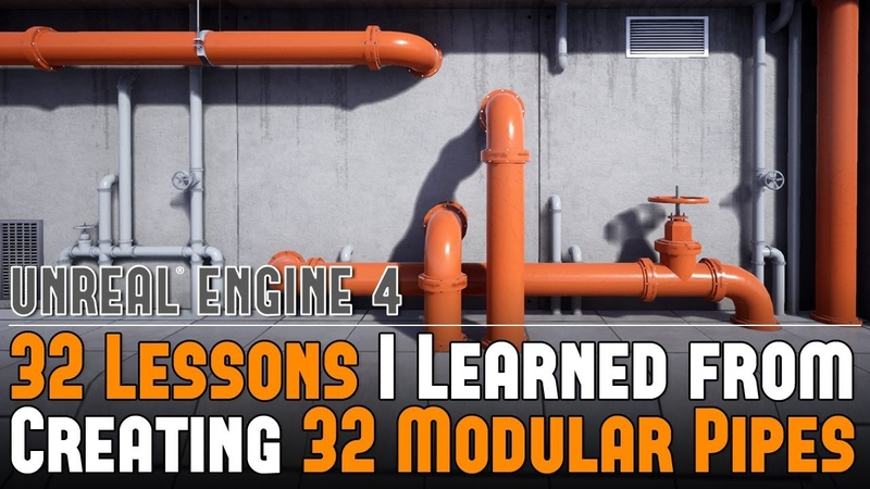 32 Lessons I Learned from Creating 32 Modular Pipe Assets Tutorial