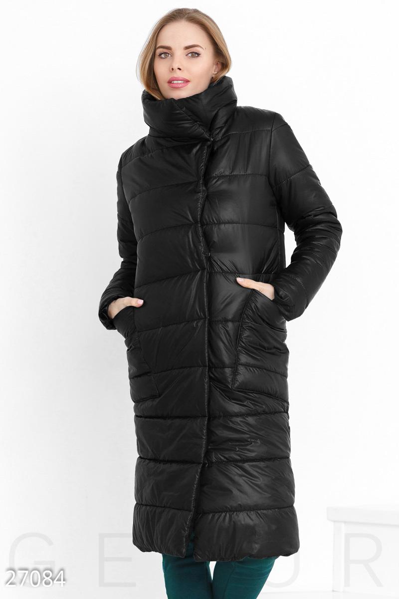 a998a15f7b9 Пальто женское из плащевки с высоким воротником (4 цвета) - Марсала ...