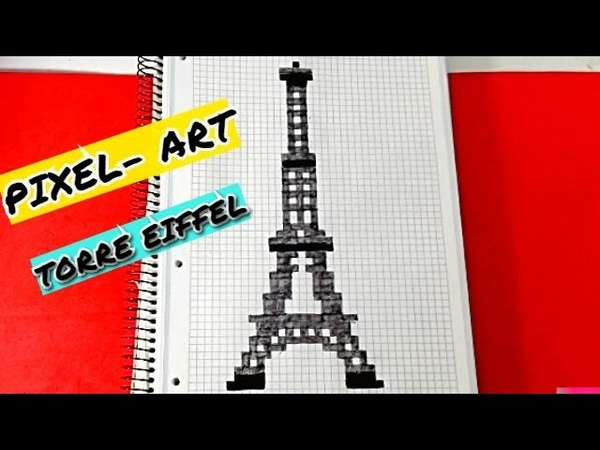 Draw Handmade Pixel Art Como dibujar TORRE EIFFEL