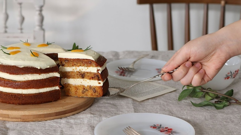 [ENG CC] 오븐 없이 밥솥으로 만들어요~ 귀여운 당근케이크🥕 : Carrot Cake🥕 [