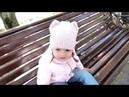 Детская шапка с ушками и снуд спицами/Children's hat with ears and a scarf spokes