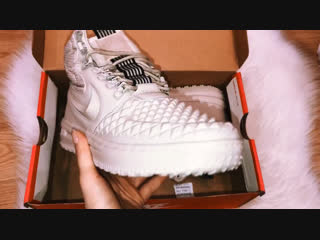 Распаковка Nike зима белые