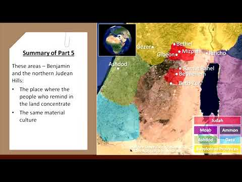 Oded Lipschits. 5.7. Выводы по археологии Рахат Рахель. Падение и возрождение Иерусалима