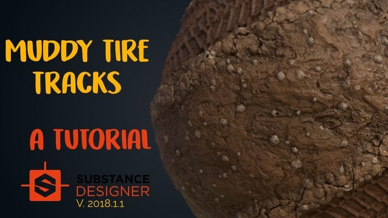 The Ultimate Muddy Tire Tracks Material in Substance Designer | Beginner Tutorial