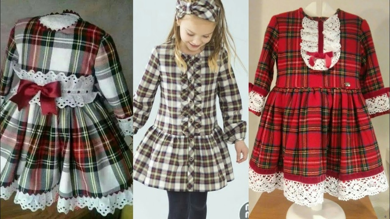 Latest Top Stylish Winter Frock Designs For Kids 2018-2019