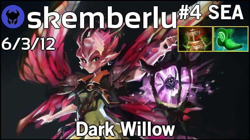 Support skemberlu plays Dark Willow Ward spots shown Dota 2 7 20