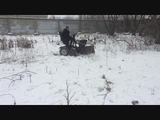 мини трактор , 4 на 4 , первые поездки