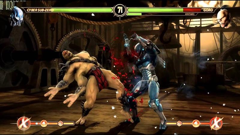 Cyber Subzero vs Kintaro and Goro - mortal kombat komplete edition pc
