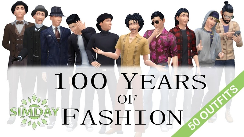 The Sims 4 Mortimer Goth Tries 100 Years of Fashion Trends (No CC)