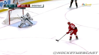 Tomas Tatar Filthy Shootout Goal vs Sharks - Jan 31, 2018 (HD Dual-Feed)