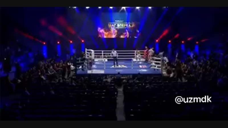 Боксер из Узбекистана Шохжахон Эргашев вырубил соперника на 18 секунде боя