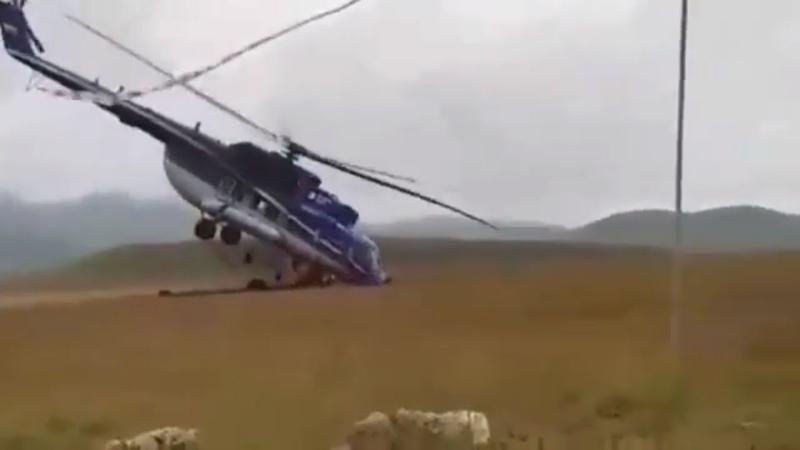 Происшествие Неудачная посадка нового Ми 171А2 наЭльбрусе