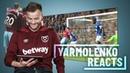 YARMOLENKO REACTS TO HIS GOALS AGAINST EVERTON