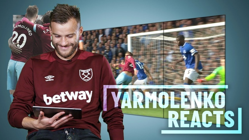 YARMOLENKO REACTS TO HIS GOALS AGAINST EVERTON