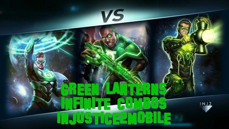 INFINITE COMBOS GREEN LANTERNS - Injustice 2 mobile