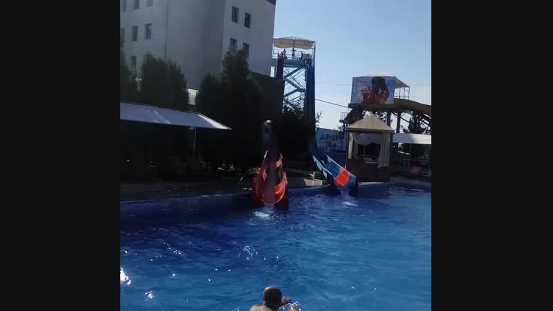 Съезд с Водных Горок в Аквапарке Aqualand