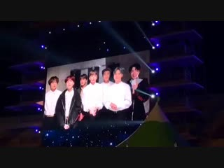 "181018 bts message for the ""the 99th korea national sports games"" closing ceremony"