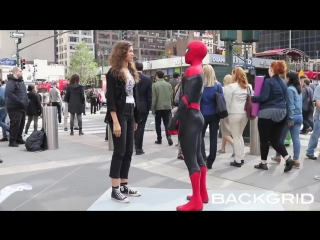 Spiderman filming with zendaya and tom holland