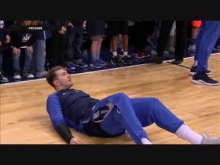 Лука Дончич отработал фол во время 3-очкового на разминке и исполнил элемент в игре с «Пеликанс»