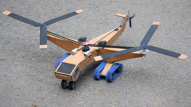 How to make a helicopter powerful air crane helicopter