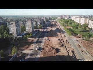 Архангельская. Полным ходом идет подготовка подъездных путей к новому мосту.