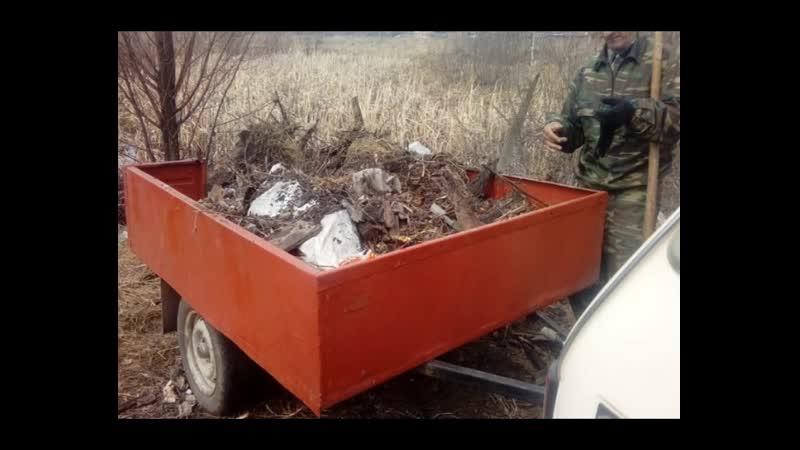 Полигон ТБО для населения закрыт, куда вывозить накопленные за зиму мусорю.