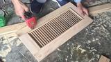 Amazing Skills Woodworking Craftsman Artisan Carpenter // Make Shutter Door For Cabinets Easiest