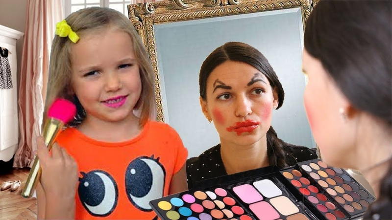Макс делает Make Up по видео Мисс Кэти и собирается на школьную Party
